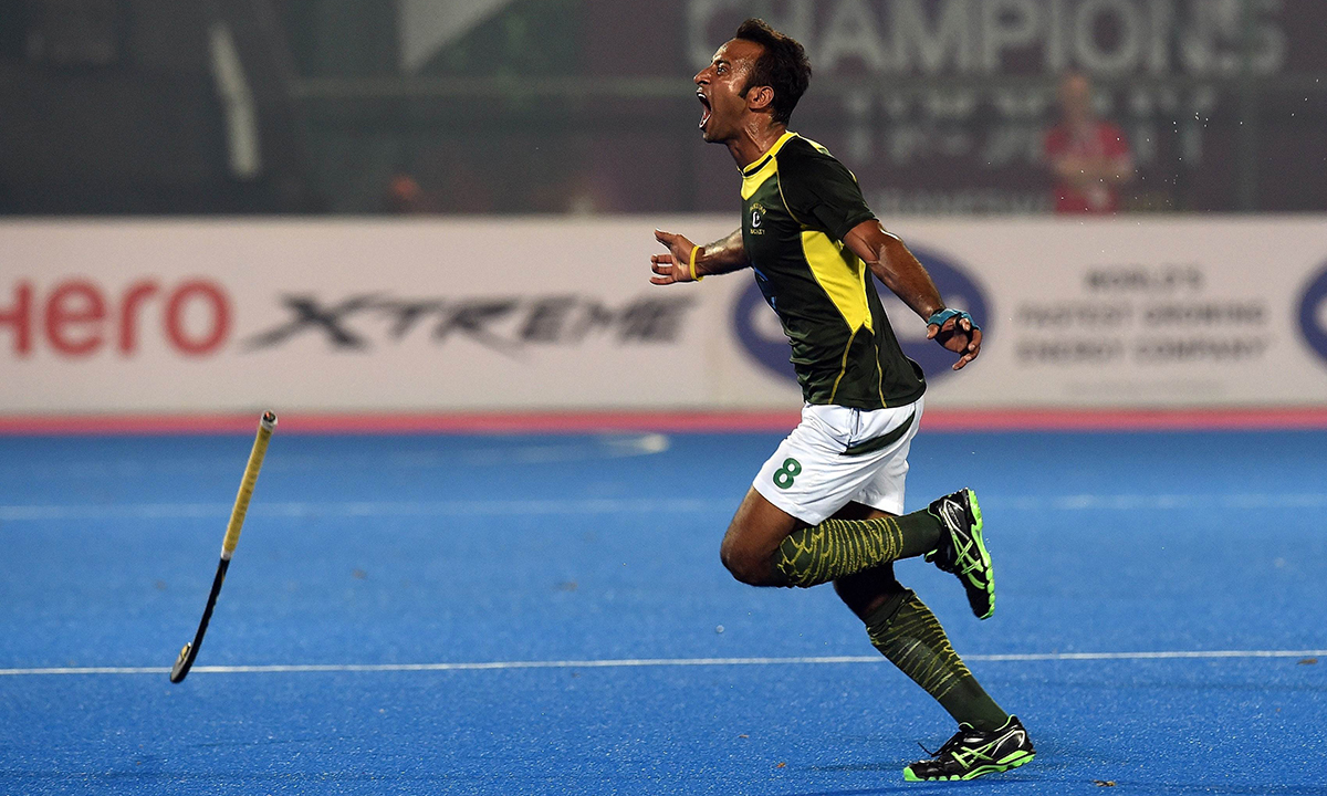 Pakistan Hockey Player Displaying Passion